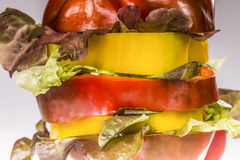 Peper en salade Stock Foto