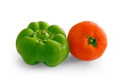 Peper en tomaat Royalty-vrije Stock Fotografie