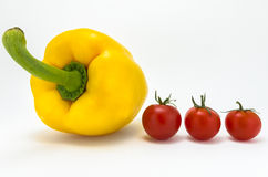 Peper en tomaten Royalty-vrije Stock Fotografie