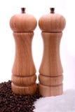 Peper en zoute molens, met pe Royalty-vrije Stock Foto's