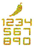 Peper-gekleurde aantalreeks Stock Afbeeldingen
