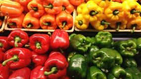 Peper, Groen Rood, Geel, Oranje, Royalty-vrije Stock Fotografie