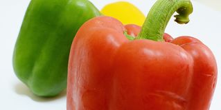 Peper, Spaanse peper Stock Foto's