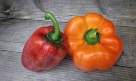 Peper twee Royalty-vrije Stock Afbeeldingen