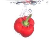 Peper in water Royalty-vrije Stock Afbeelding