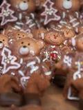 Peperkoek bij Kerstmismarkt van München stock fotografie