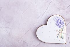 Peperkoek in de vorm van hart Royalty-vrije Stock Fotografie