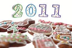 Peperkoek en kaarsen 2011 Stock Fotografie