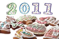 Peperkoek en kaarsen 2011 Stock Afbeeldingen