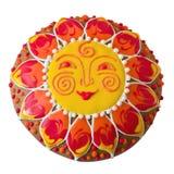Peperkoek in vorm van zon Stock Afbeelding