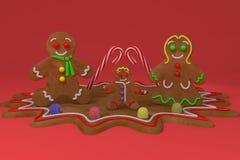 Peperkoekfamilie Stock Afbeeldingen