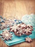 Peperkoekkoekjes Stock Afbeeldingen
