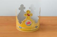 Peperkroon met Burger King-embleem royalty-vrije stock afbeelding