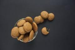 Pepernoten,荷兰南瓜香料饼干 免版税库存照片