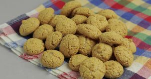 Pepernoten, a traditional treat with the Dutch holiday Sinterklaas. Cookie. Pepernoten, a traditional treat with the Dutch holiday Sinterklaas. Kruidnoten stock video