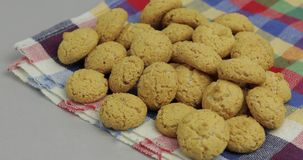 Pepernoten, a traditional treat with the Dutch holiday Sinterklaas. Cookie. Pepernoten, a traditional treat with the Dutch holiday Sinterklaas. Kruidnoten stock footage