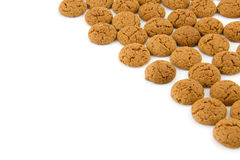 Pepernoten for typical dutch Sinterklaas festivity. Pepernoten (ginger nuts) sweets for typical Dutch festivity at 5 december. With room for text Stock Photo