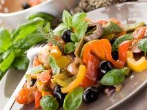 Peperonata with basil Stock Images