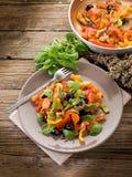 Peperonata with basil and olives Stock Photo