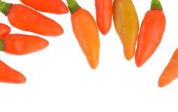 Peperoncini caldi isolati su fondo bianco Fotografia Stock Libera da Diritti
