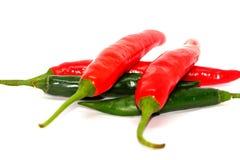 Peperoncini rossi Fotografia Stock Libera da Diritti