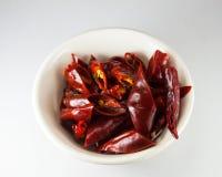 Peperoncini rossi asciutti Immagini Stock