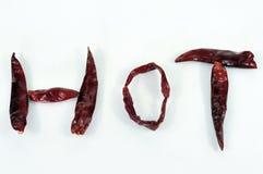 Peperoncini rossi caldi Immagini Stock Libere da Diritti