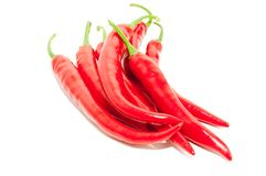 Peperoncini rossi freschi Fotografia Stock