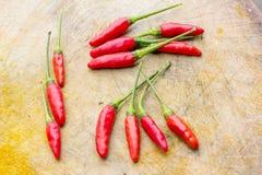 Peperoncini rossi freschi Immagini Stock Libere da Diritti