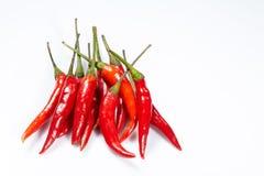 Peperoncini rossi rossi caldi Fotografia Stock Libera da Diritti