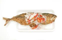Peperoncini rossi, scalogno, alimento di pesci, Tailandia Fotografia Stock Libera da Diritti