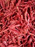 Peperoncini rossi secchi Immagine Stock