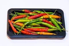 Peperoncini rossi variopinti Fotografia Stock