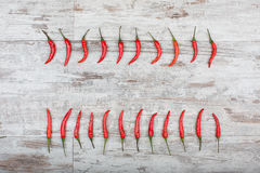 Peperoncini roventi Fotografia Stock