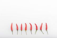 Peperoncini roventi su una tavola Fotografie Stock