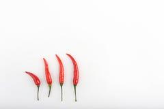 Peperoncini roventi su una tavola Fotografia Stock Libera da Diritti