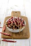 Peperoncini secchi Fotografia Stock Libera da Diritti