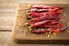 Peperoncini secchi Fotografie Stock