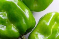 Peperoncini verdi macro Fotografia Stock