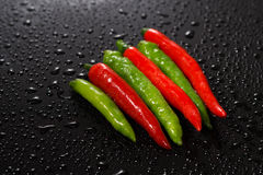 Peperoncino caldo rosso e verde fotografia stock libera da diritti