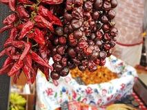 Peperoncino di cayenna rosso secco dei peperoncini rossi o del peperoncino rosso Immagini Stock
