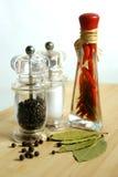 Peperoncino rosso & pepe nero Fotografia Stock Libera da Diritti