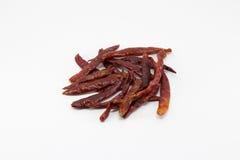 Peperoncino rosso asciutto Fotografie Stock
