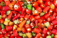 Peperoncino rosso cuted rosso Immagini Stock Libere da Diritti