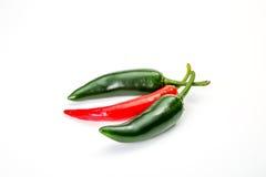 Peperoncino rosso del pepe isolato Fotografia Stock
