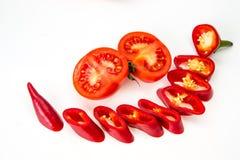 Peperoncino rosso del pepe, tonato isolato Fotografia Stock Libera da Diritti