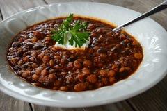 Peperoncino rosso della lenticchia della quinoa fotografie stock libere da diritti