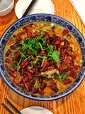 Peperoncino rosso di Sichuan, cucina cinese fotografie stock