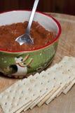 Peperoncino rosso e cracker Fotografia Stock