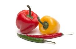 Peperoncino rosso e pepe di bulgarina Fotografia Stock Libera da Diritti